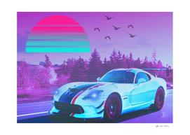 Car Street  Fast Retro Synthwave 2077