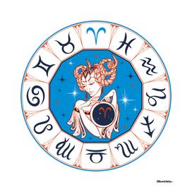 Aries - Beautiful Girl Zodiac