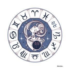 Aquarius - Beautiful Girl Zodiac