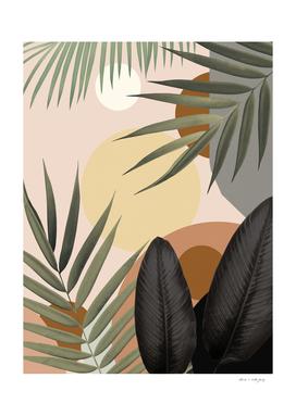 Tropical Abstract Jungle Oasis #1 #tropical #decor #art