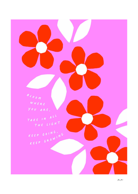 Just Bloom! Retro floral collage Nº2