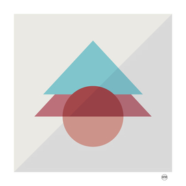 Triangles and circles geometric design
