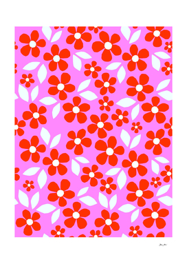 Just Bloom! Retro floral pattern collage Nº2