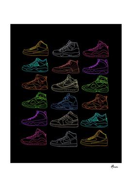 Light jordan sneakers