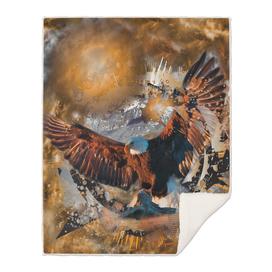 Landing Eagle Bird OF Prey