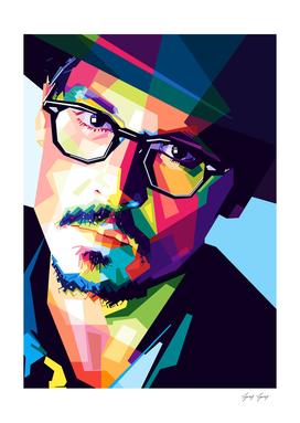 Johnny Depp Popart