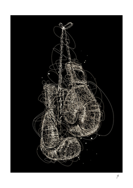boxing glove scribbles