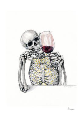 Wine o'clock_Skeleton