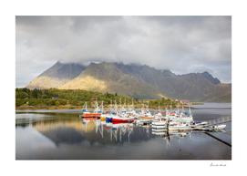 Boats in Lofoten Islands