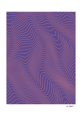 Abstract Lines 02 - Ultraviolet + Coral