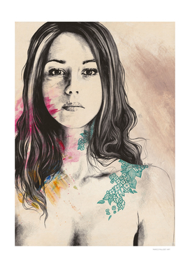To Have and To Own | flowers tattoo nude woman