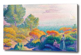 Two Women by the Shore by Henri-Edmond Cross