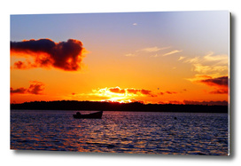 Anchored to Buoy at Dusk