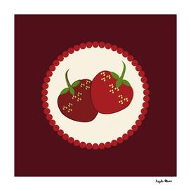 Summer Strawberry Cream Pie Art