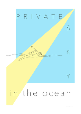 private sky in the ocean