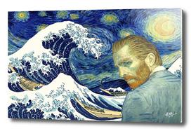 Van Gogh and Ukiyo-e Starry Sky