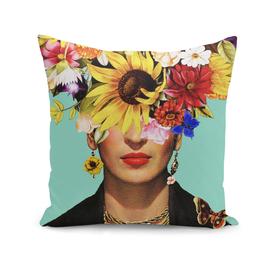Fan flower girl, tribute to Frida