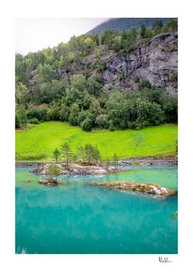 Glacier Lake Landscape