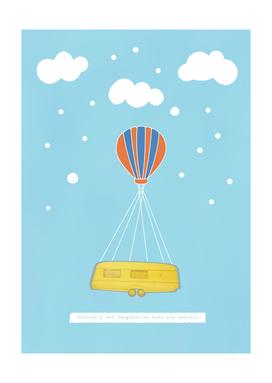 Flying Balloon Bus
