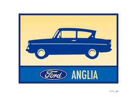 BLUE FORD ANGLIA
