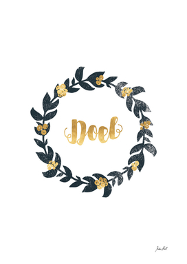 Noel, Christmas wreath, festive decorations