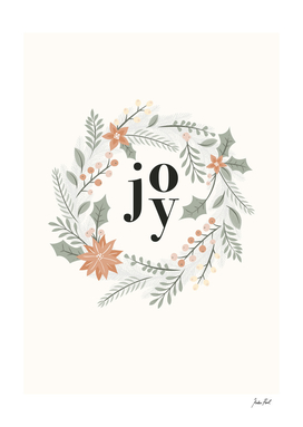 Joy, Christmas wreath, xmas decorations