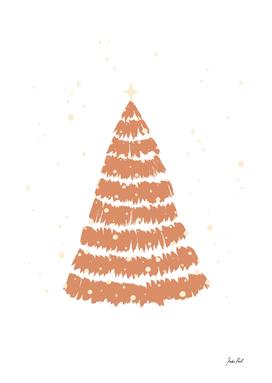 Christmas tree, winter illustration, pine tree