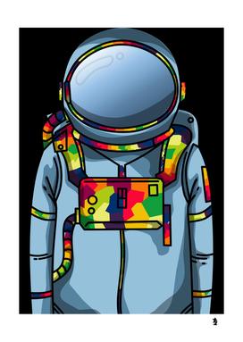 astronaut light blue