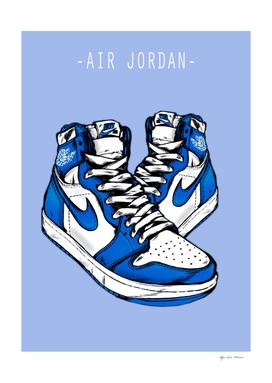 Sneakers Air Jordan Blue