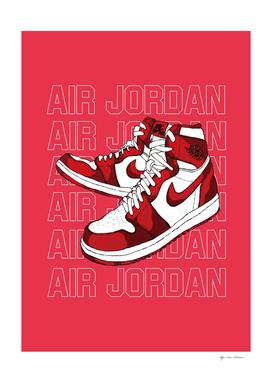 Sneakers Air Jordan Red