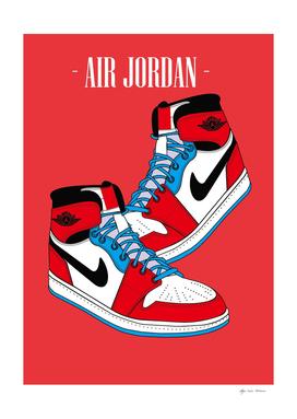 Sneakers Air Jordan Red Blue