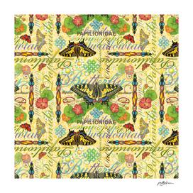 Illuminated Swallowtail Butterfly