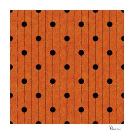 Halloween Polka-dots on Orange Velvet