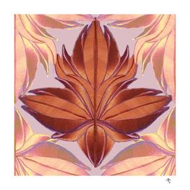 autumn leaf, cage, rhombus, dusty rose, terracotta,