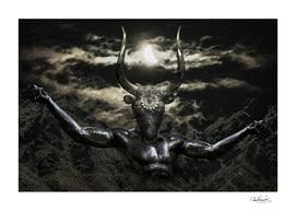 Creepy Mythological Artwork Collage