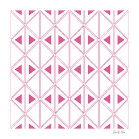 Dark Pink Art Deco Triangles | Beautiful Interior Design