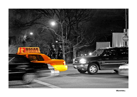 NYC - Yellow Cabs - Oscar Night