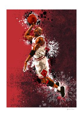 Michael Jordan Watercolor
