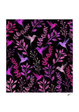 Watercolor Floral & Birds II