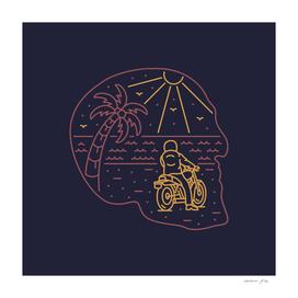 Biker on Skull Island