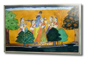 Krishna Radha and Gopies
