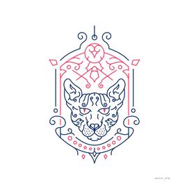Sphynx Cat Decorative Ornament 3