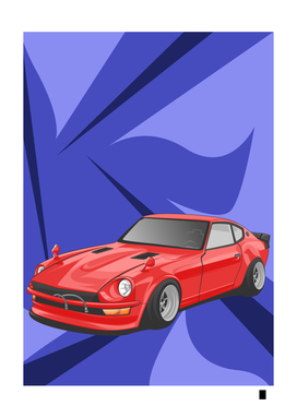 Sport cars color red