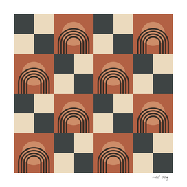 Arches and Circles Checkerboard