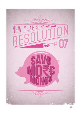 New Year's resolution #7