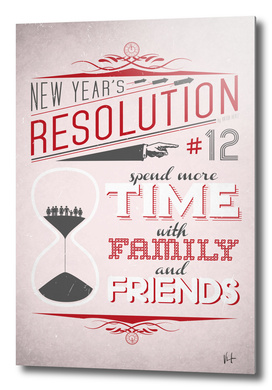 New Year's resolution #12