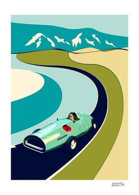 Retro Vector Car Poster