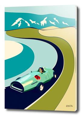 Retro Vector Car Poster