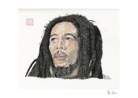 Bob Marley Watercolour Portrait