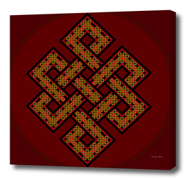 The Endless Knot in Claret